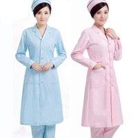 Women Doctor Nurse Uniform Hospital Pharmacy Pharmacist Workwear Spring Coat Medical Beautician Workwear