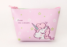 Unicorn Patterned Coin Purse with Zipper