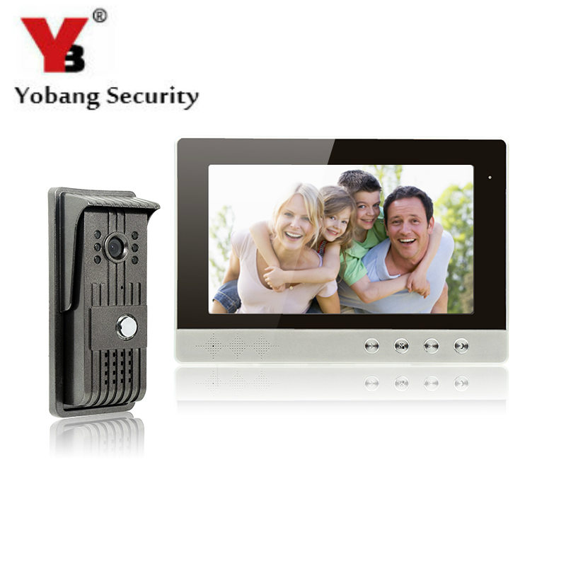 YobangSecurity Video Intercom Monitor 10Inch Video Door Phone Home Security Color TFT Wired for House/Office/apartment/Hotel yobangsecurity black 7 inch color tft lcd screen monitor wired video doorbell camera system for house office apartment