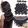 Peruvian Vrigin Hair With Closure Body Wave Lace Frontal Closure With Bundles Tissage Bresilienne Avec Closure Ali Pearl Hair