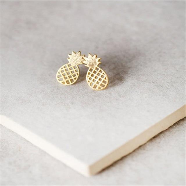 c2eade181914 Moda Linda fruta de piña Pendientes joyería piña superficie con pequeñas  Alambres dibujo Pendientes encanto femenino