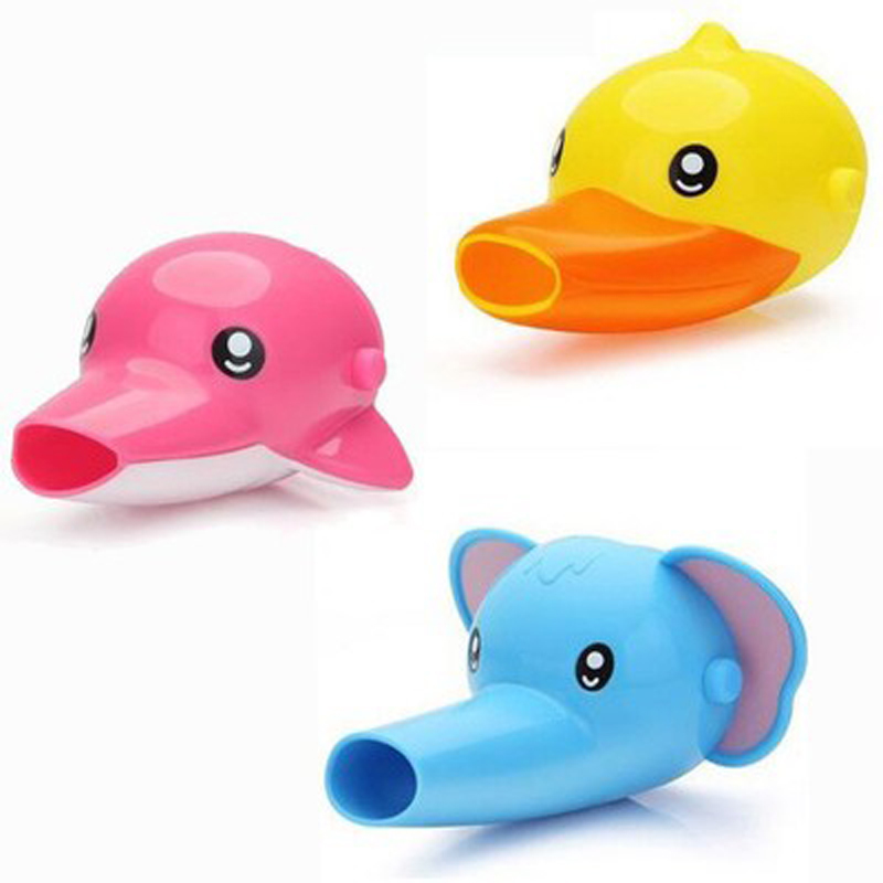 1pcs Cartoon Faucet Extender For Kid Children Kid Hand Washing In Bathroom Sink Elephant Dolphin Duck Bathroom Accessories Hot in Bathroom Accessories Sets from Home Garden