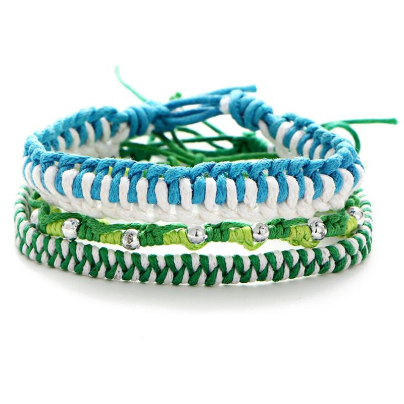 Summer Style Multilayer Braided Bracelets For Women Bohemia Jewelry Fashion Candy Color Charm Rope Bracelet Sets DIY Handcraft