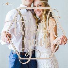 1PCS Thank You Sign Wedding Decoration Event Party Decorations Wooden Rustic Decor Supplies for Decorating Photo Booth