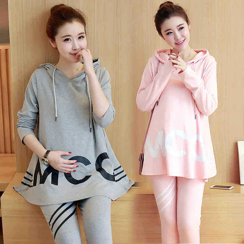 Spring Autumn Cotton Pregnancy Clothing Long Sleeve Maternity Hoodie Sweatshirt for Pregnant Women Clothes Plus Size WY10 2017 new spring women maternity t shirt