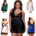 women sexy sleepwear lingerie baby dolls Plus Size lace trim sexy underwear women lady night dress S -4XL