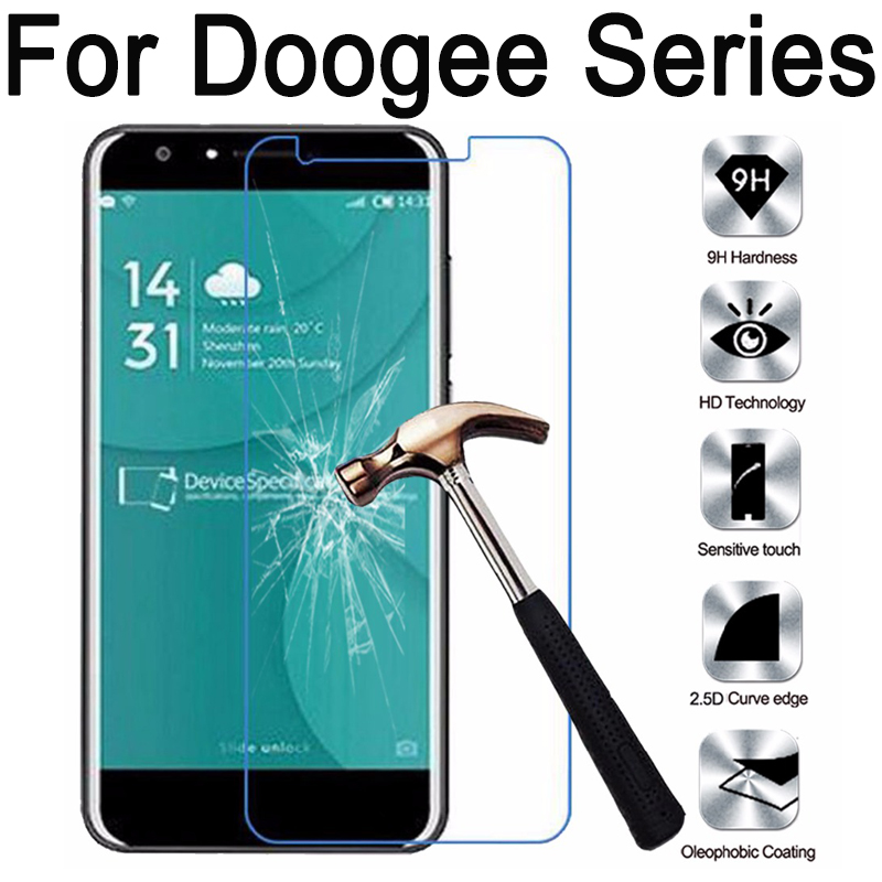 Tempered Glass Screen Protector For Doogee homtom HT3 HT6 HT7 HT10 HT16 HT17 HT20 X20 X30 F5 X5 X6 X9 pro Y6 MAX Y100 film case