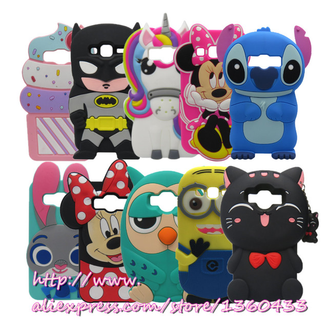 For Samsung J1 3D cartoon Rubber Case For Samsung Galaxy Core Prime LTE G360 G360H G361H Cover For Samsung Galaxy Core Prime