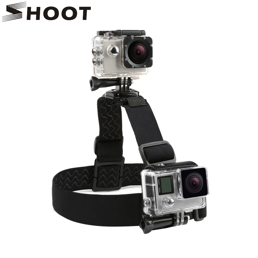 SHOOT Double Elastic Camera Head Strap Mount for GoPro Hero 7 6 5 Black 4 Yi Lite 4K Eken h9 Sjcam SJ4000 Mount Go Pro AccessorySHOOT Double Elastic Camera Head Strap Mount for GoPro Hero 7 6 5 Black 4 Yi Lite 4K Eken h9 Sjcam SJ4000 Mount Go Pro Accessory
