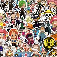 50pcs ONE PIECE cartoon fans anime vintage paster gift toy cosplay funny decal scrapbooking diy stickers phone laptop waterproof