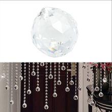 1 шт. прозрачный хрустальный шар лампа Призма Радуга солнце Ловец свадебный Декор для дома 20 мм