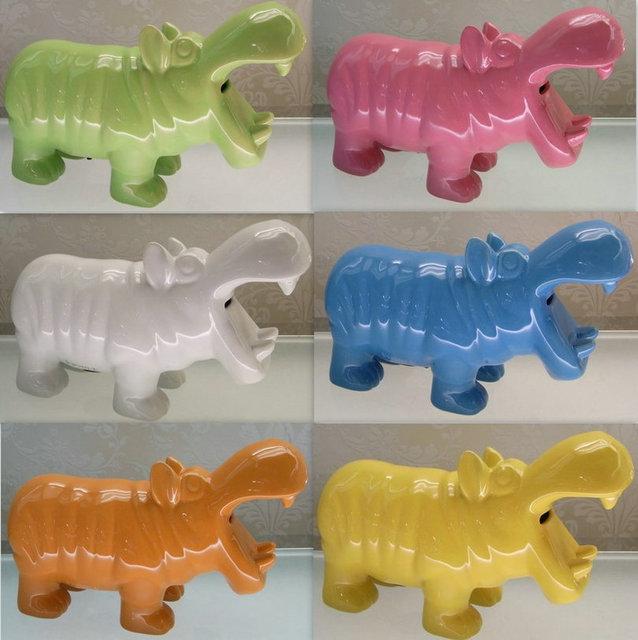 Nette Keramik Hippo Sparschwein Wohnkultur Handwerk Kinderzimmer Dekoration  Ornament Porzellan Tierfiguren Dekorationen Geschenk