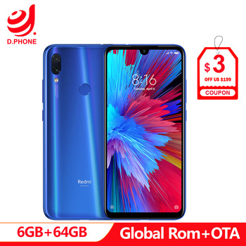 "Official Global Rom Xiaomi Redmi Note 7 6GB RAM 64GB ROM Snapdragon 660 Octa Core 6.3"" FHD+ 48MP Dual Camera 4000mAh Phone"