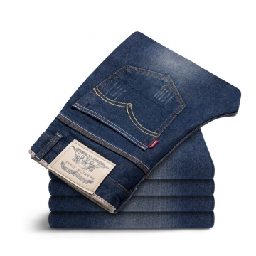 New Arrivals Men's Slim Straight jeans casual pants men's brand style