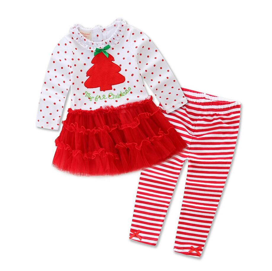 2pcs christmas pajamas newborn baby girl boy clothes autumn long sleeve cute t shirtstriped long pants family christmas pajamas in clothing sets from