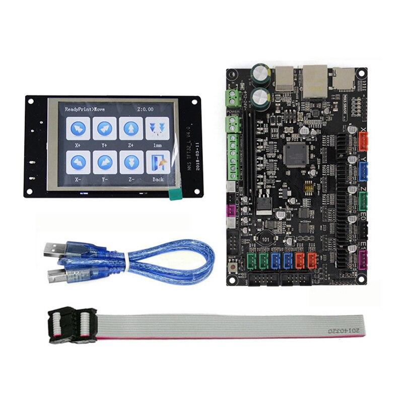 3D MKS SBASE V1.3 contrôleur carte mère + MKS TFT28 Pleine couleur écran tactile prend en charge interruption ARM Cortex smoothieboard