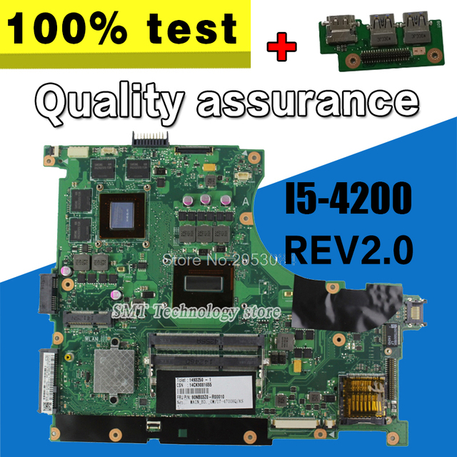 Send Board N56JK Motherboard I5 8 Memory 2 RAM Slots For ASUS G56JK Laptop Mainboard