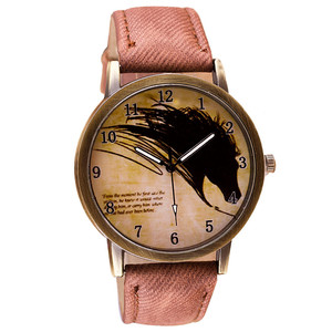 watches women Retro Clock Wolf women watches Cowboy Leather Band Analog Quartz Watch ladies watch bayan saat reloj mujer #p6