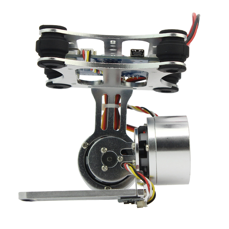 Gimbal Camera Mount PTZ Steady with Brushless Motor Controller for DIY Quadcopter Trex 500 550 Aircraft No Manual F06885 2015 hot sale quadcopter 3 axis gimbal brushless ptz dys w 4108 motor evvgc controller for nex ildc camera