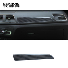 Car-styling Interior carbon fiber Glovebox Handle Decoration Sequins Glove box Covers Stickers For Q3 2013-2017 auto Accessories