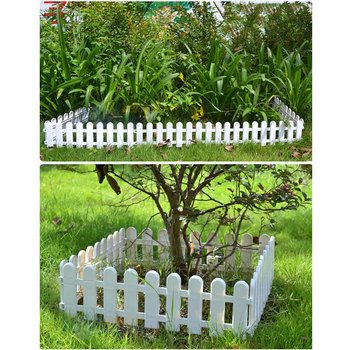 White Plastic Festive Supplies Gardening Christmas Tree Fence Christmas Decorative Fence Hotel Plastic Fence Fashion DIY stuffed toy