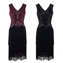 54d29282f9 Kobiety mała czarna sukienka z dekoltem w kształcie litery V V powrót bez  rękawów 1920 s styl