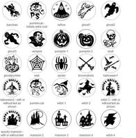 Halloween Banchee Willow Ghost Vampire Pumpk Skull Web Spider Witch In Wax Seal Stamp For DIY