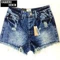 2014 разрушен грязные разорвал бедствия высокая талия джинсовые шорты джинсы для женщин Feminino Feminina мини шорты джинсы 3942K9