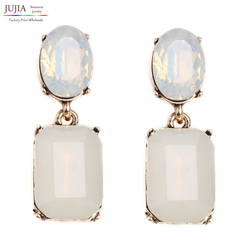 High quality Wholesale New statement earring fashion Shiny crystal stud Earrings for women jewelry lady gift