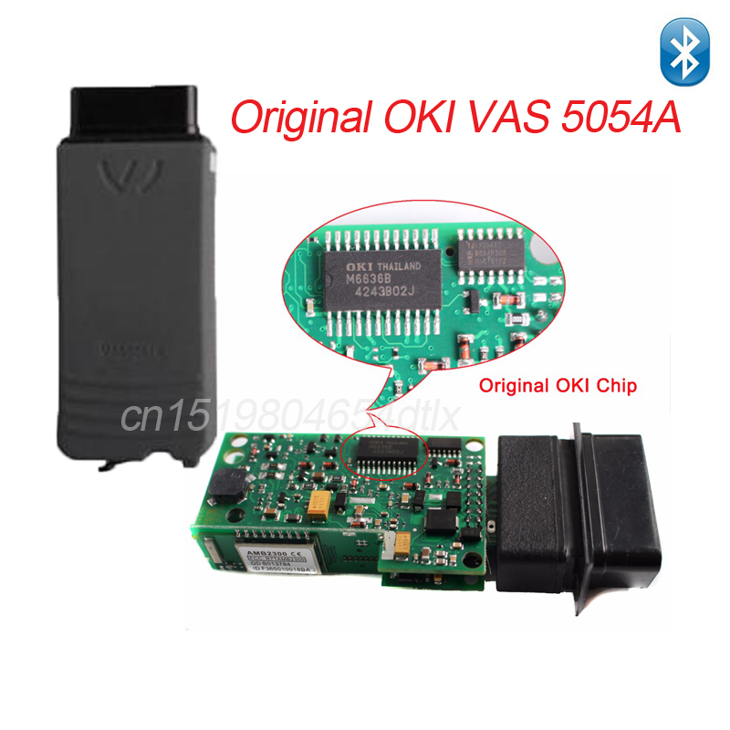 Original OKI/Bluetooth Chip A++ VAS 5054A 5054 with ODIS 3.03/3.12 VAS5054A VAS5054 for VW/AUDI/SEAT/SKOD-A DHL free