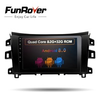 Funrover 9 2 din Android8.0 Car Stereo multimedia For Navara NP300 2014+ AutoRadio RDS GPS Navigation 2G RAM navi wifi headunit