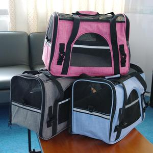 Image 2 - Taşınabilir Köpek Kedi Taşıyıcı Çanta Pet Köpek Seyahat Çantaları Nefes Örgü Küçük Köpek Kedi Chihuahua Taşıyıcı Giden Evcil Çanta