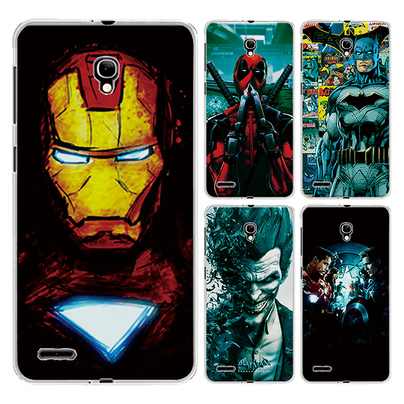 For Alcatel OneTouch Pop2 OT <font><b>7043Y</b></font> 7043K 7044 Premium LTE Case Charming Marvel Avengers Captain America Iron man Spiderman Cover image