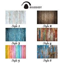 Allenjoy fotografie achtergrond kleur bruin houten vloer muur kleine size vinyl zomer achtergrond studio foto photophone photocall