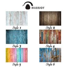 Allenjoy photographie toile de fond couleur brun bois plancher mur petite taille vinyle été fond studio photo photophone photocall