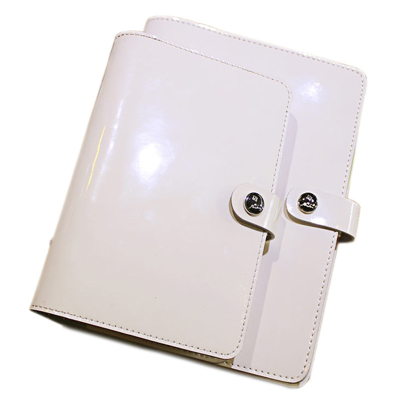 Image 2 - 2019 Yiwi Korea A5 A6 Genuine Leather Solid Color Loose Leaf Planner Dairy Binder Notebook-in Notebooks from Office & School Supplies