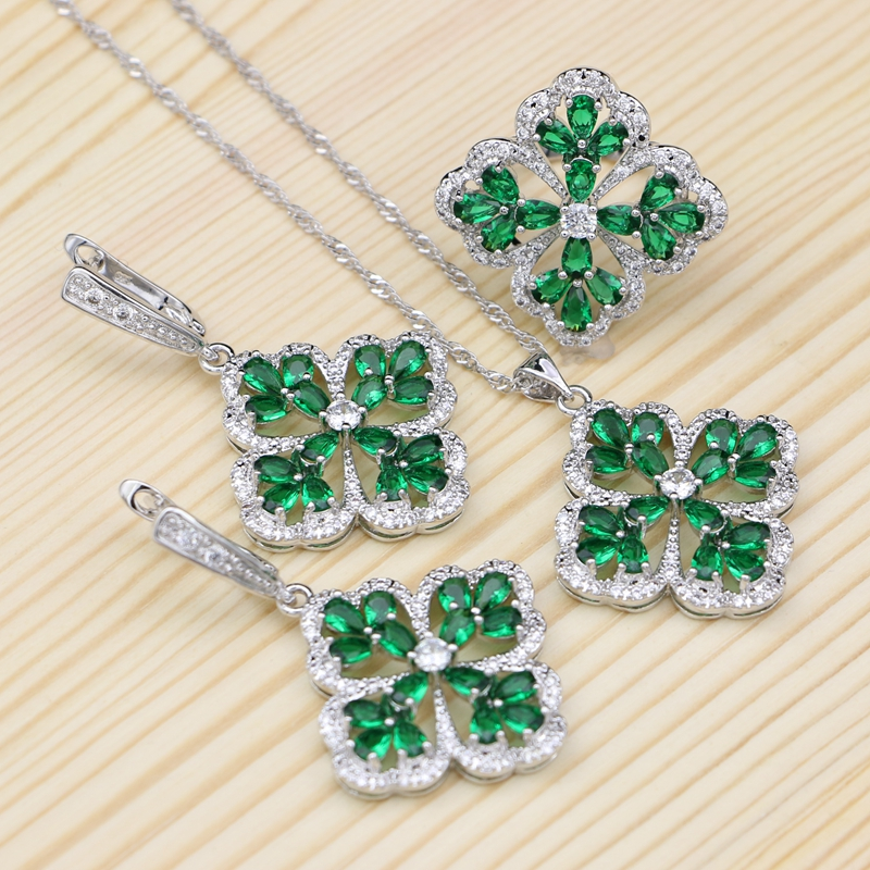Jewelry Sets Natural Green...