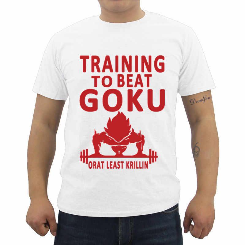 Dragon Ball Z футболка Гоку DBZ аниме футболка Для мужчин; короткий рукав Футболка с круглым вырезом Повседневное мужской хип-хоп Футболки