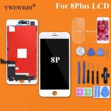 YWEWBJH 5 STKS Grade AAA LCD 5.5 inch Voor iPhone 8 Plus Lcd scherm Touchscreen Digitizer Vergadering Vervanging Goede 3D gratis