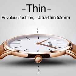 50%OFF OLEVS Lovers Waterproof Watch Women Men Wristwatch Ultra thin Dial Design Quartz Leather Watches For Women Romantic Gifts