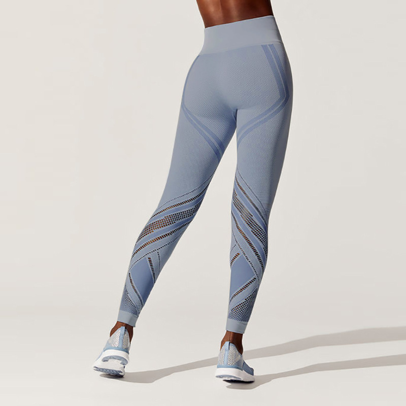High waist tight hips seamless yoga pants running bottoming fitness pants women outdoor sports yoga leggings in Yoga Pants from Sports Entertainment