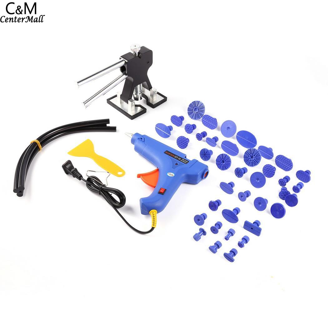 A remoção do Corpo De Reparação Paintless Dent Levantador Extrator Ferramenta Pistola de Cola Kit Ferramenta PDR Granizo Carro