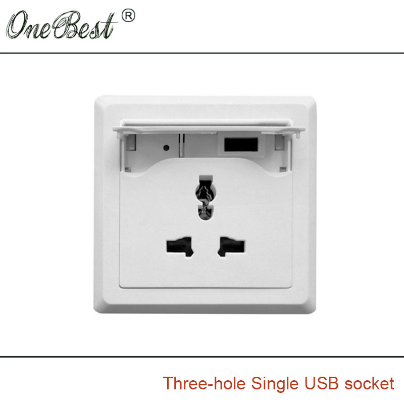 International General AC 110V/250V 3 Hole Universal Socket Single ...