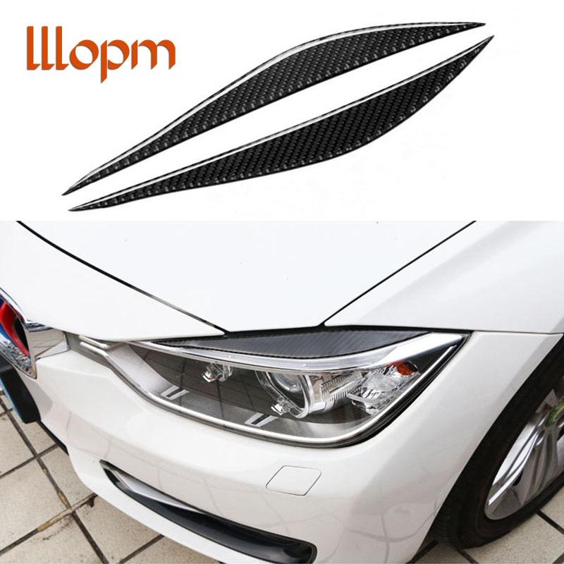 New Carbon Fiber Headlights Eyebrows Eyelids for BMW F30 320i 325i 316i Front Headlamp Eyebrows 3 series 2013-2015 accessories полуось на bmw 316i в беларуси