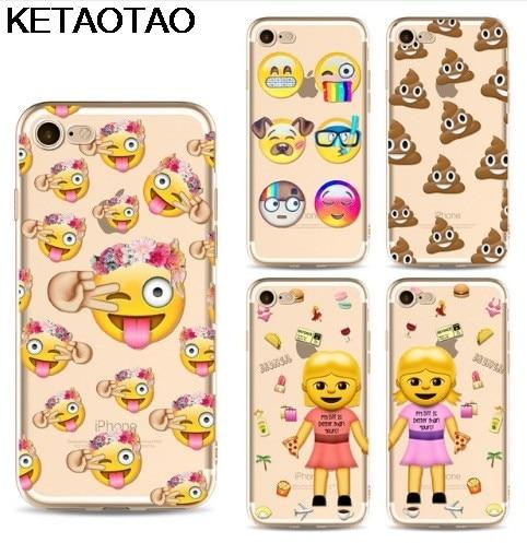 KETAOTAO Smile Face Facebook Monkey Emoji Phone Cases for iPhone 4S 5C 5S 6S 7 8 Plus X  ...