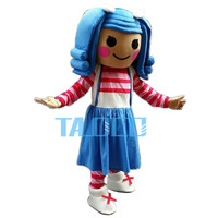Best lalaloopsy girl Mascot Costume Cartoon Fancy Dress Free Shipping Adult Size
