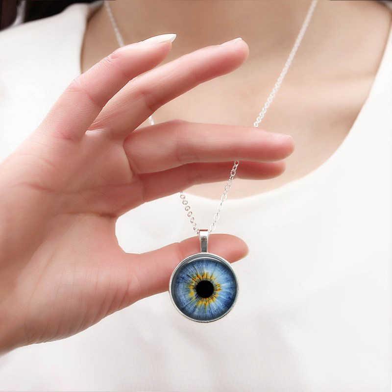 2018 ใหม่แฟชั่น Cat Eye สร้อยคอ Handmade เครื่องประดับ Dragon Eye Art Glass รอบจี้สร้อยคอผู้ชาย Photo