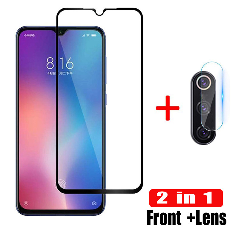 2-in-1 Mi 9 Camera Lens Tempered Glass On For Xiaomi Mi 9 SE Camera Screen Protector Glass Xaomi 9se Mi9 Protective Safety Film