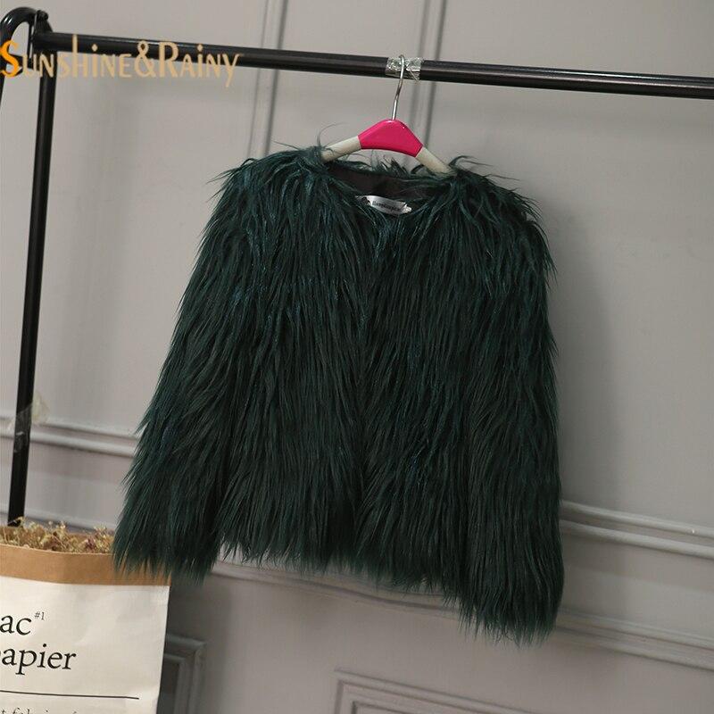 Девушка Искусственный мех пальто модная зимняя куртка для девочек Верхняя одежда; куртки для детская парка для маленьких девочек зимний ко...