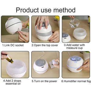 Image 5 - 150ml Hot Sale LEDLight Ultrasonic Air Humidifier Mist Maker Fogger Electric Aroma Diffuser Essential Oil Aromatherapy Household